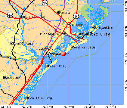 Longport, NJ map
