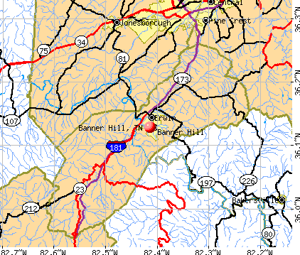 Banner Hill, TN map