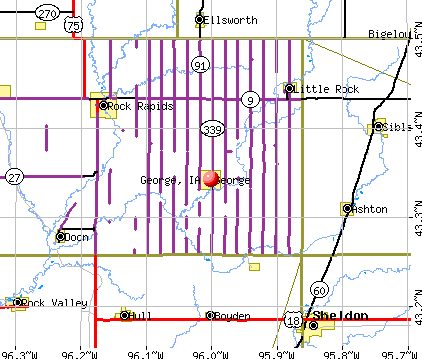 George, IA map