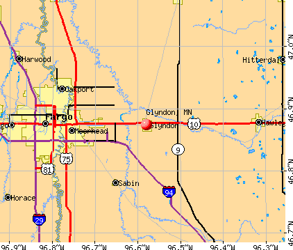 Glyndon, MN map