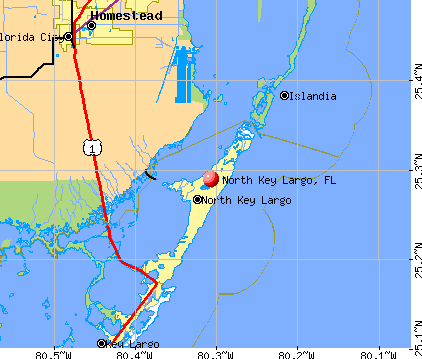 North Key Largo, FL map