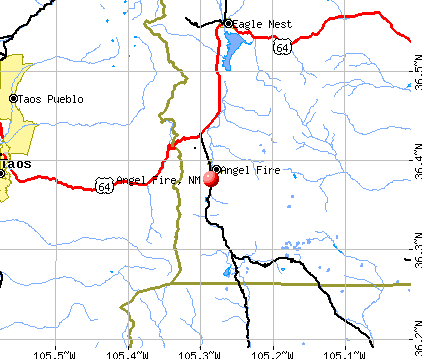 Angel Fire, NM map
