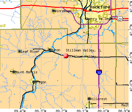 Stillman Valley, IL map