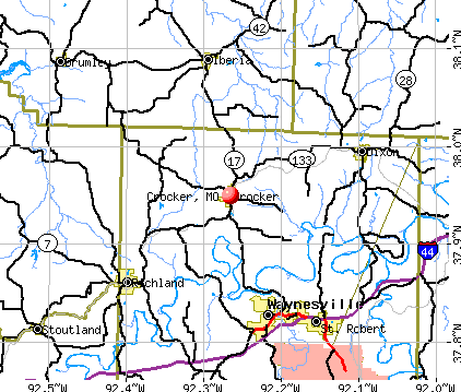 Crocker, MO map
