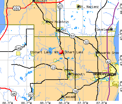Elkhart Lake, WI map