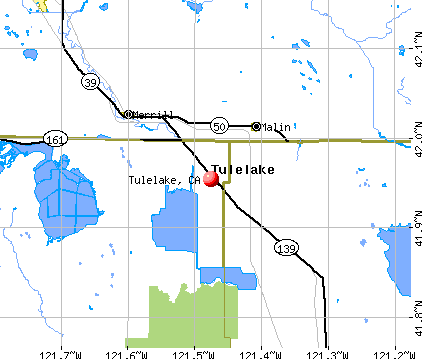 Tulelake, CA map