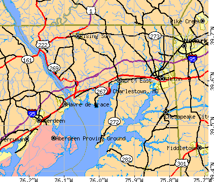 Charlestown, MD map