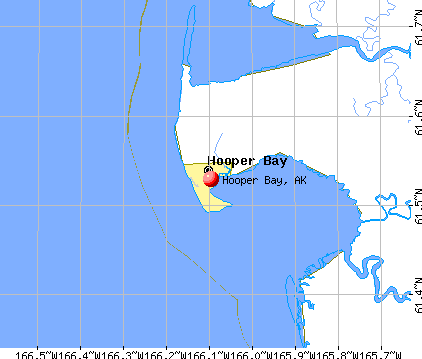 Hooper Bay, AK map