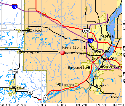 Hanna City, IL map