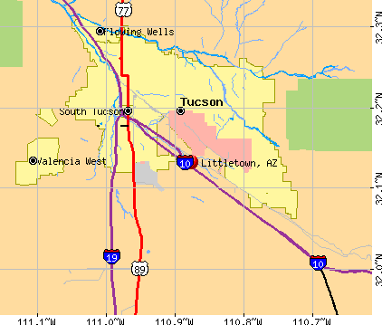 Littletown, AZ map