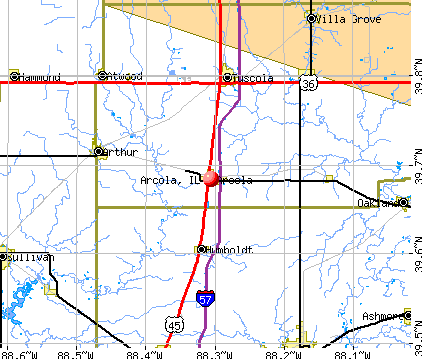 Arcola, IL map
