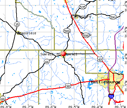 Sumrall, MS map
