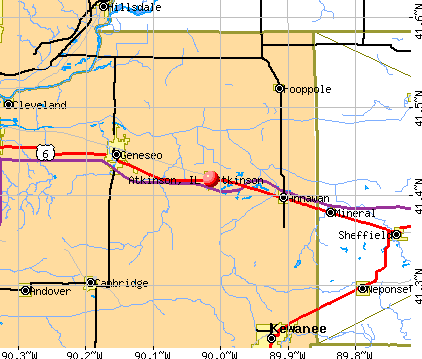 Atkinson, IL map