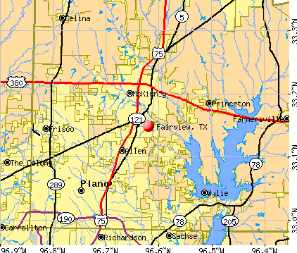 Fairview, TX map
