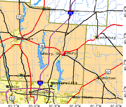 Sunbury, OH map