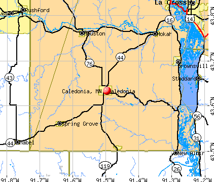 Caledonia, MN map