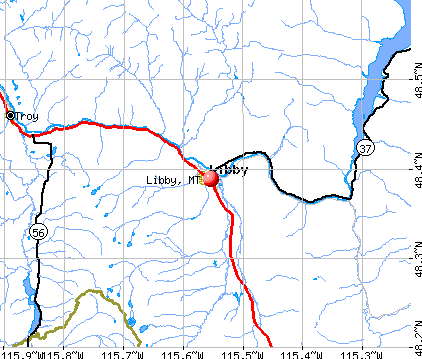 Libby, MT map