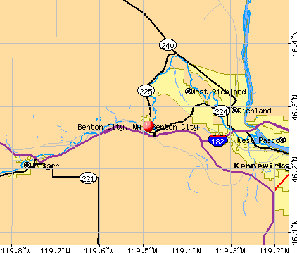 Benton City, WA map