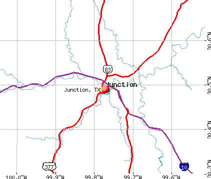 Junction, TX map