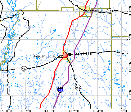Poplarville, MS map