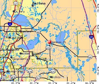 Geneva, FL map