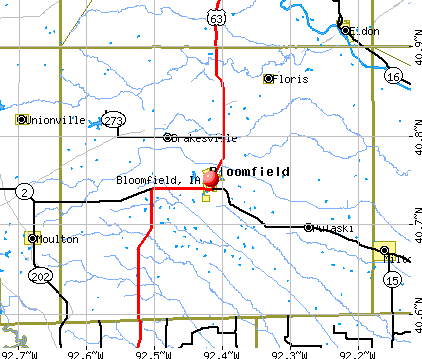 Bloomfield, IA map