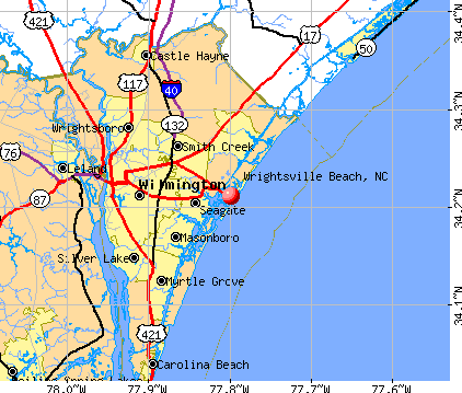 Wrightsville Beach, NC map
