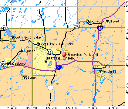 Brownlee Park, MI map