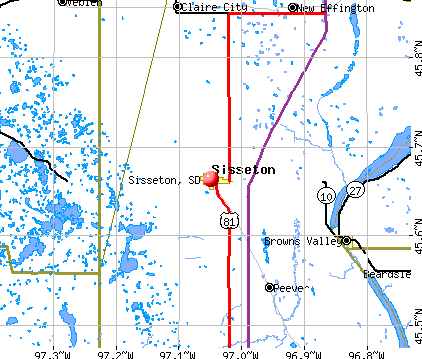 Sisseton, SD map