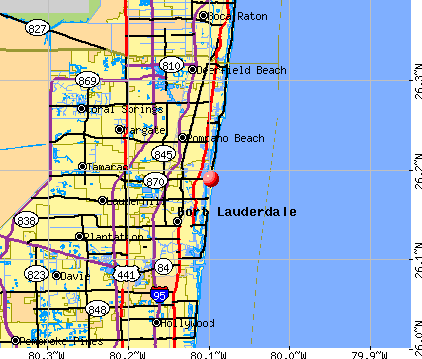 Lauderdale-by-the-Sea, FL map