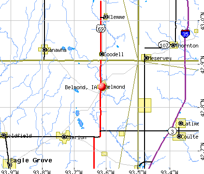 Belmond, IA map