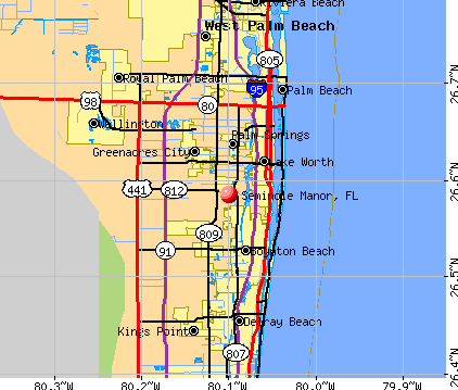 Seminole Manor, FL map