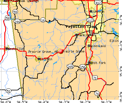 Prairie Grove, AR map