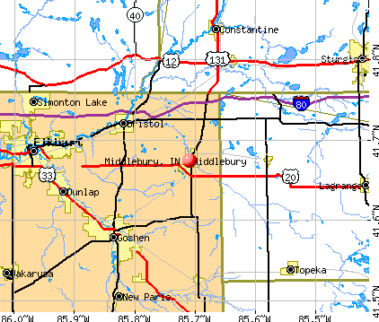 Middlebury, IN map