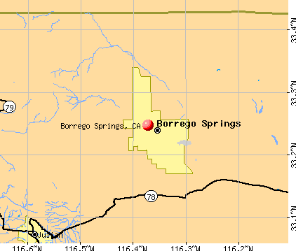 Borrego Springs, CA map