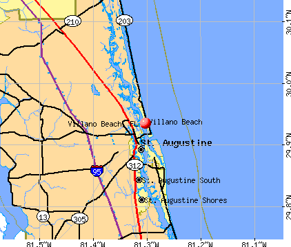 Villano Beach, FL map