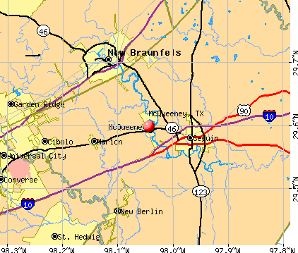McQueeney, TX map