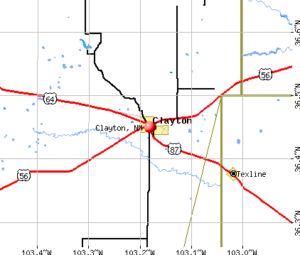Clayton, NM map