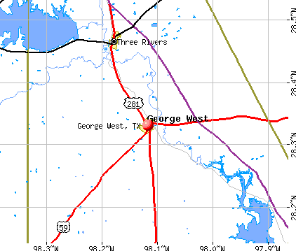 George West, TX map