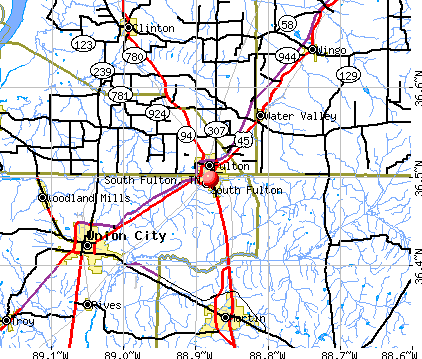 South Fulton, TN map