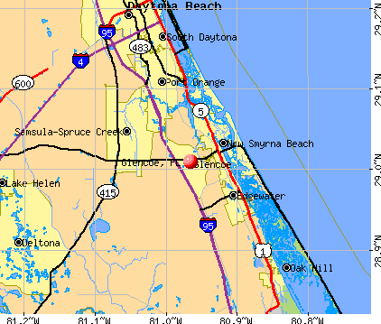 Glencoe, FL map