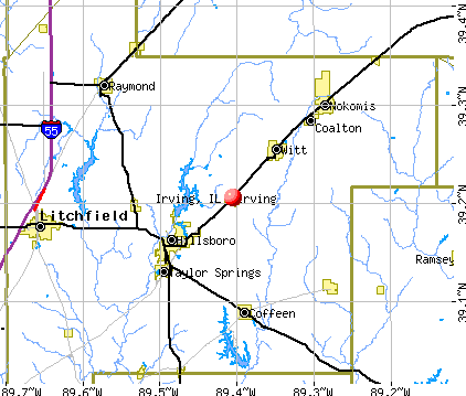 Irving, IL map