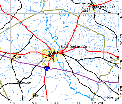 East Dublin, GA map