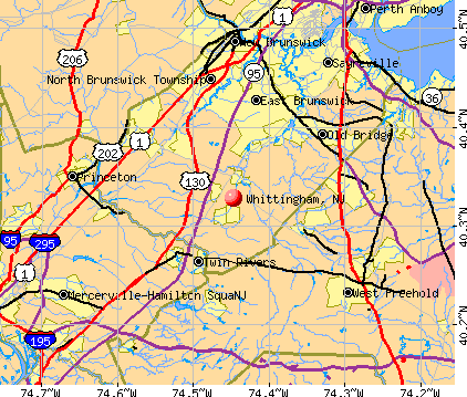 Whittingham, NJ map