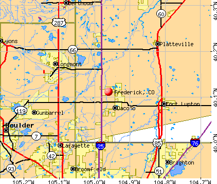 Frederick, CO map