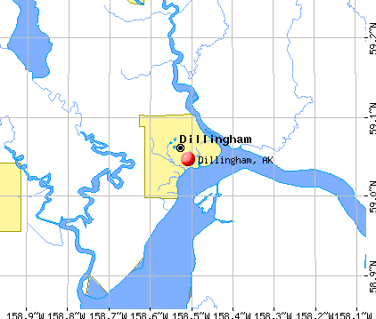 Dillingham, AK map
