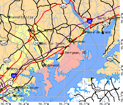Perryman, MD map