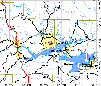 Fairfield Bay, AR map