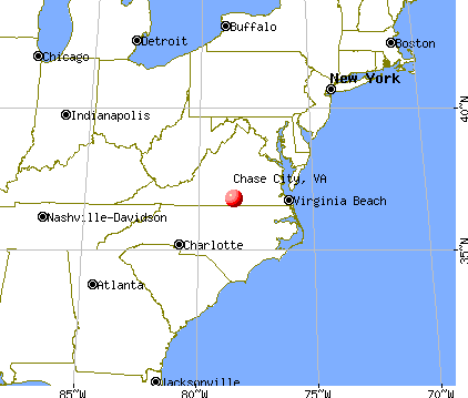 Chase City, Virginia map