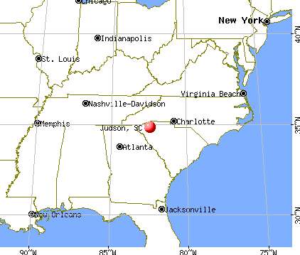 Judson, South Carolina map